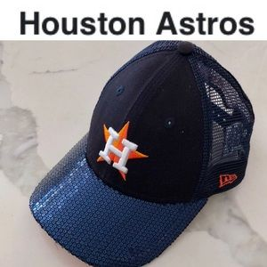 Womens/Youth SEQUIN Houston Astros Baseball Cap